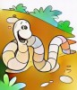 Ten Cute and Funny Worms Coloring Pages for Children