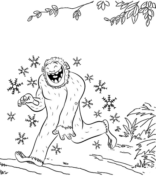 Yeti Christmas Coloring Page