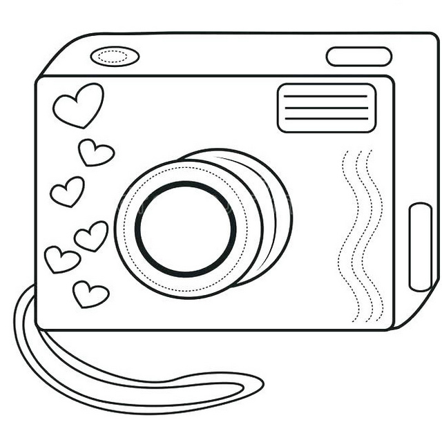 camera toys for kids coloring page