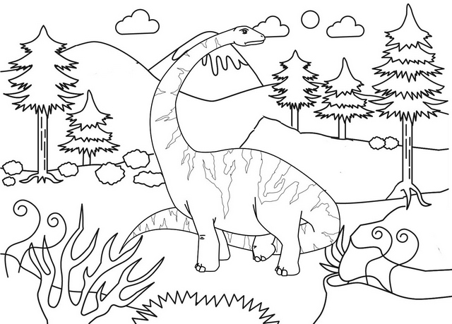 diplodocus land before time coloring page