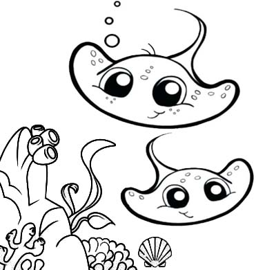 It's just an image of Sly Stingray Coloring Page
