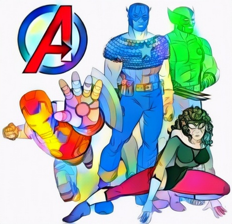 Avengers Endgame Coloring Work
