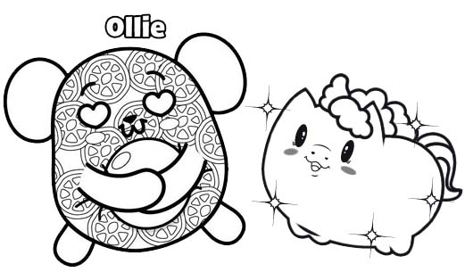 Cute Ollie Pikmi Pops Coloring Page
