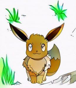 Eevee Pokemon Coloring Work from Tiara