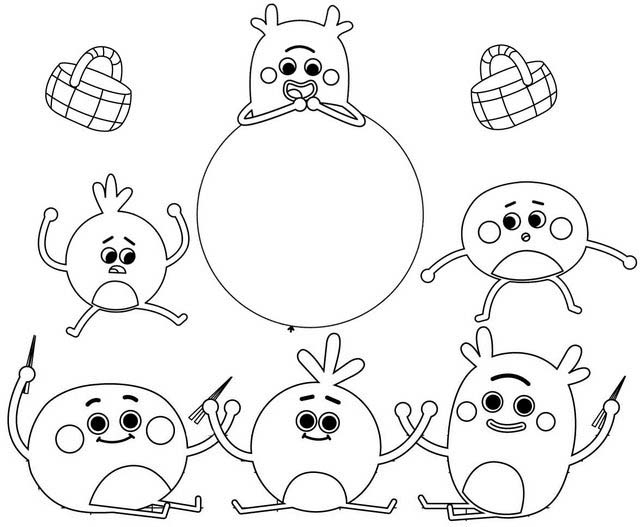 Funny and Cute The Bumble Nums Coloring Page