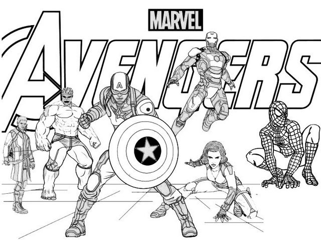Marvels The Avengers Coloring Page for Fans