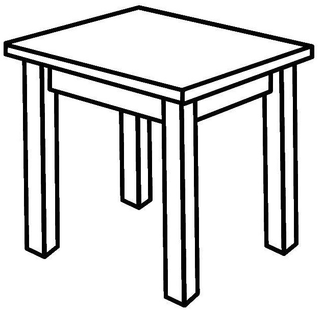 School Student Table Coloring Page for Kid