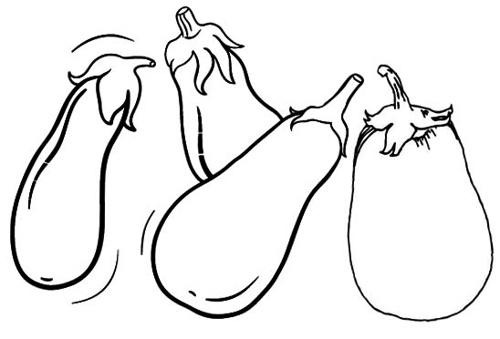 Simple Eggplant Coloring Page