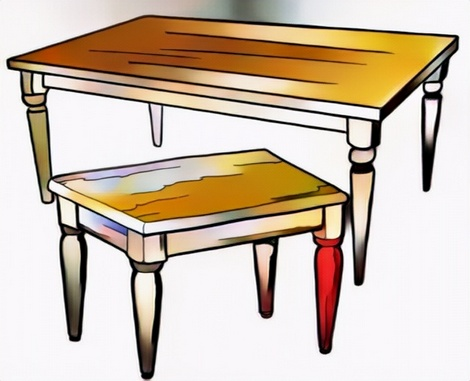 table coloring work from Anton my student