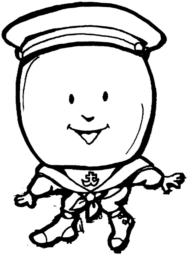 Cartoon Humpty Dumpty Coloring Page