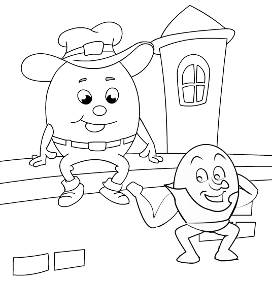 Cute and Fun Humpty Dumpty All the Kings Men Coloring Pages