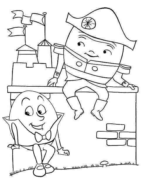 Humpty Dumpty Tiny Baby Stars Coloring Pages