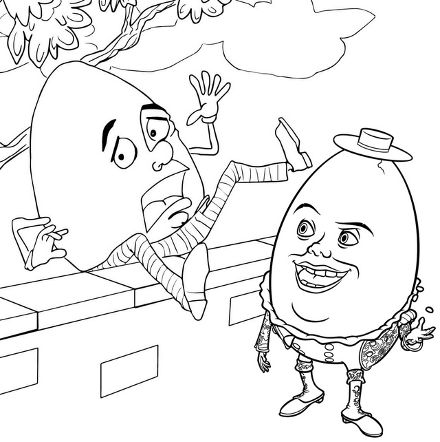 humpty alexander coloring page of humpty dumpty