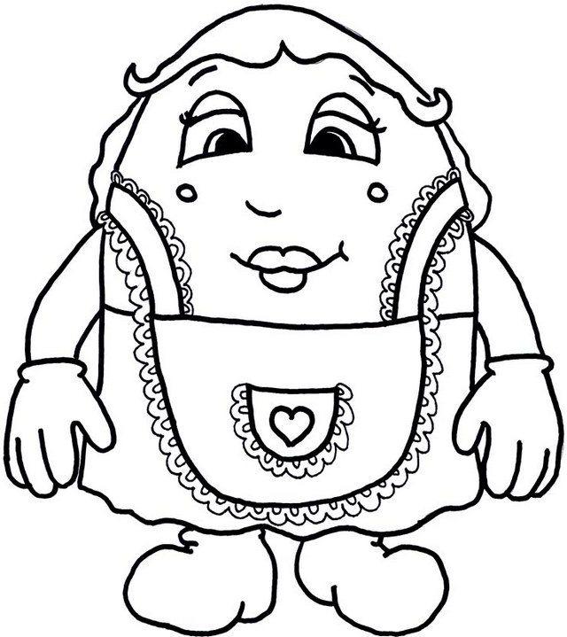 humpty dumpty chef coloring page