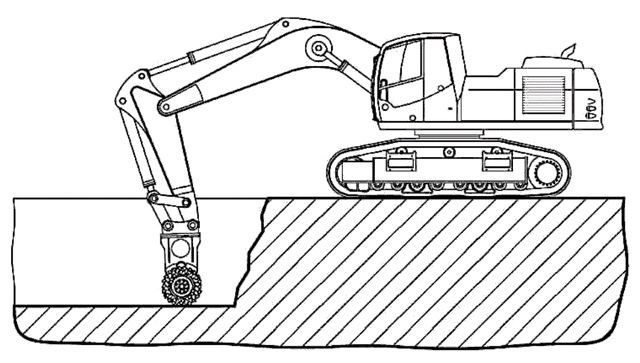 machine of mining industry coloring page