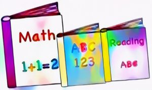 Book Math and Reading ABC Coloring Work Art