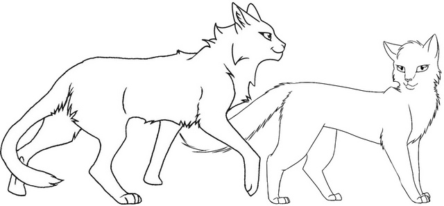 Firestar Warrior Cat Coloring Page