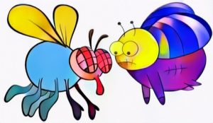 Flies Coloring Work for Inspiration to your kids in color