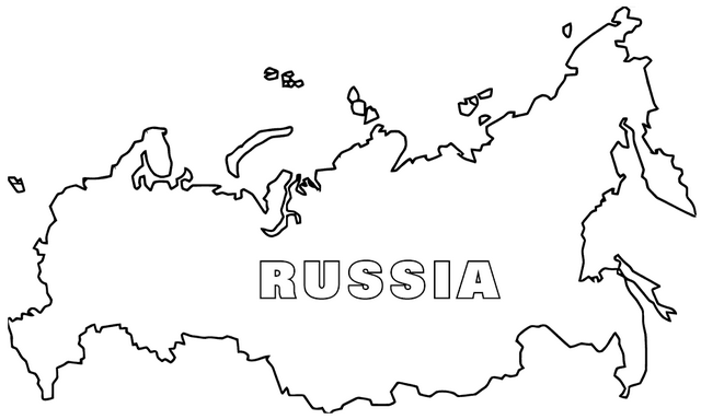 Map of Russia Coloring Pages
