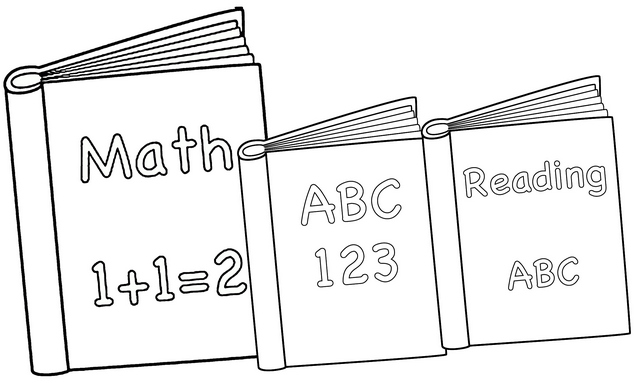Math and How to Read Book Coloring Page