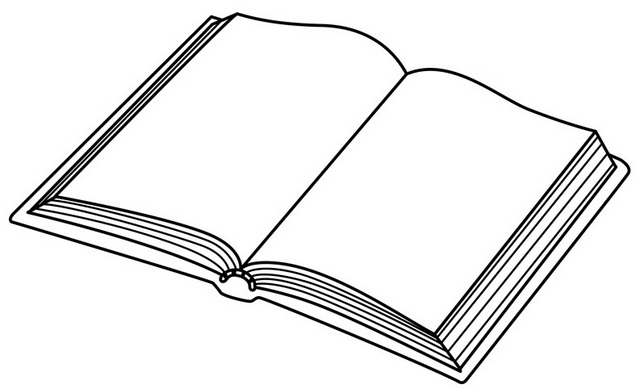 Opening Book Coloring Page