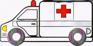 Red Cross Ambulance Coloring Work Result