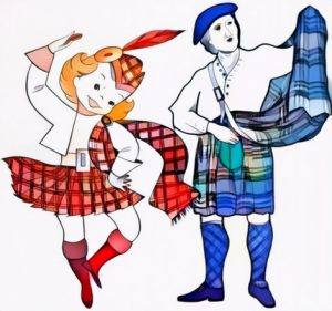 Scotland Dance Coloring Work for Ideas