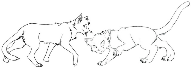 Warrior Cat Battle Warrior Coloring Page
