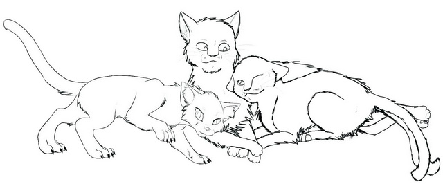 Warrior Cat Long Tail Coloring Page