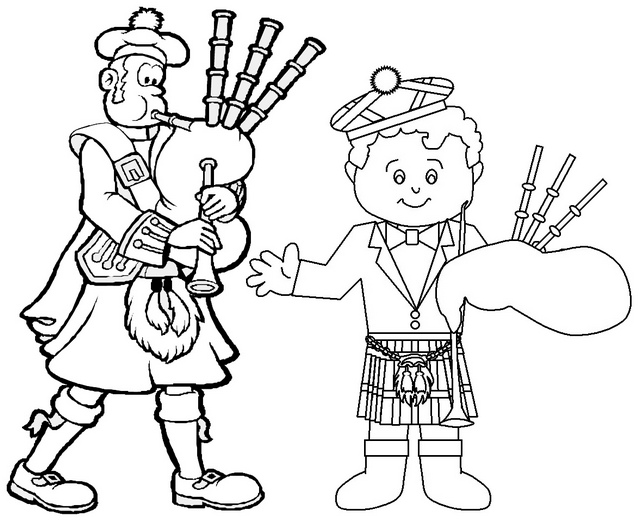 celtic music in scotland coloring page