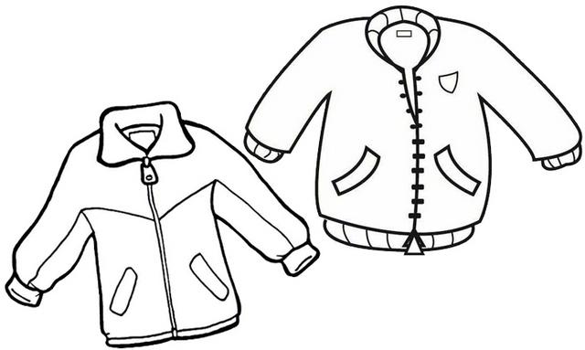 jacket design coloring page