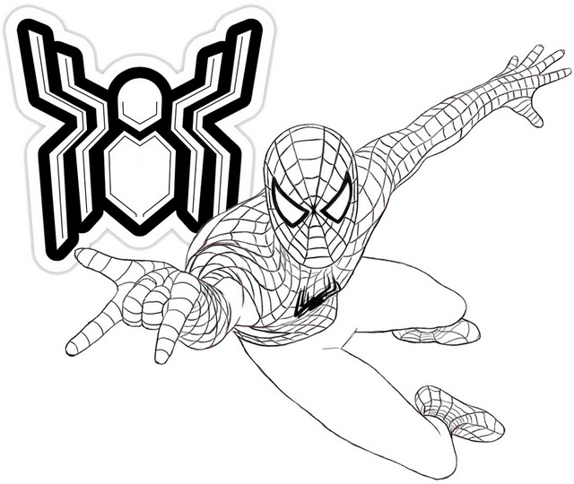 A New Spider Man Far From Home Coloring Page