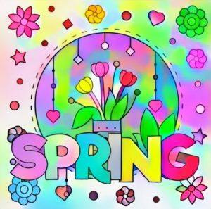 Inspiring Spring Coloring Work Result for Student