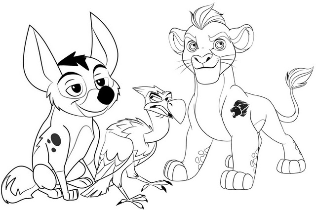 Mzingo Kion and Dogo Coloring Page of Lion Guard