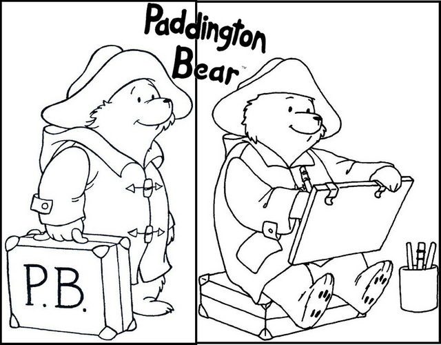 Paddington Painting Activities Coloring Page