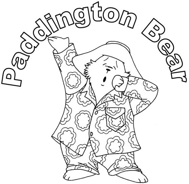 Paddington Wake up coloring page