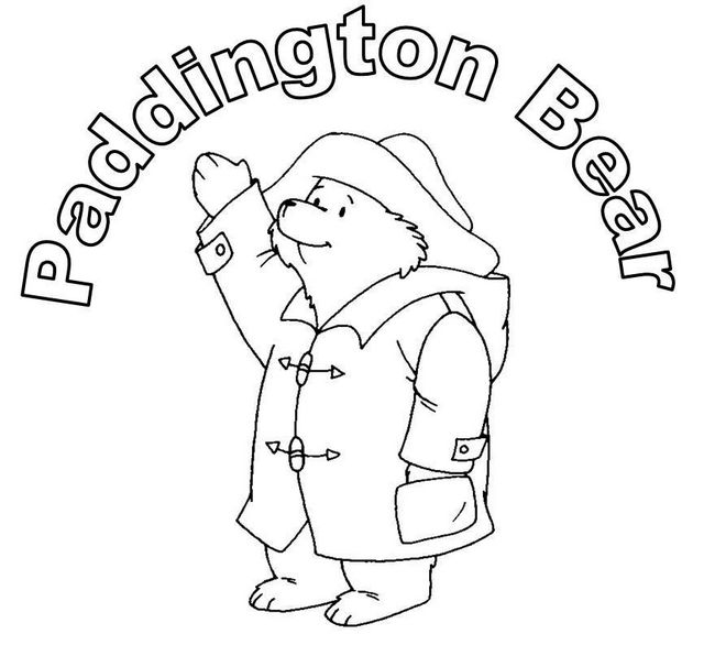 Paddington bear coloring page for kids
