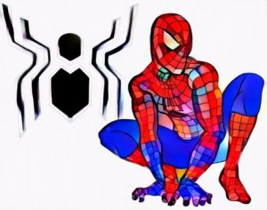 Spidermen Far From Home Coloring Art from Students in the Holiday