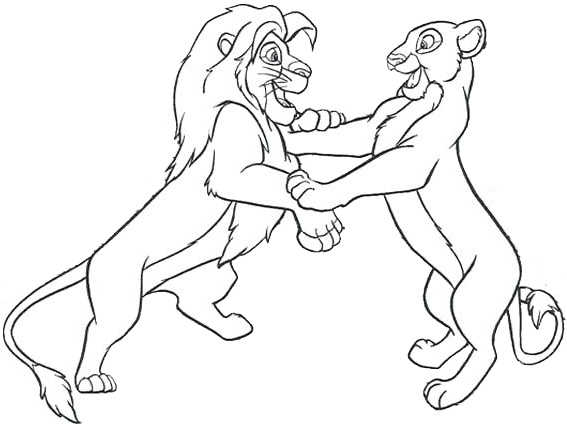 The Lion King Coloring Page Mufasa and Sarabi Picture