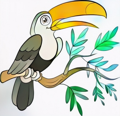 Toucan Coloring Work for Color Art Ideas