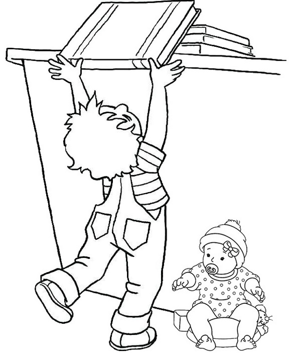 safety awareness coloring page for child