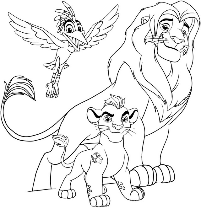 the lion guard Disney coloring pages