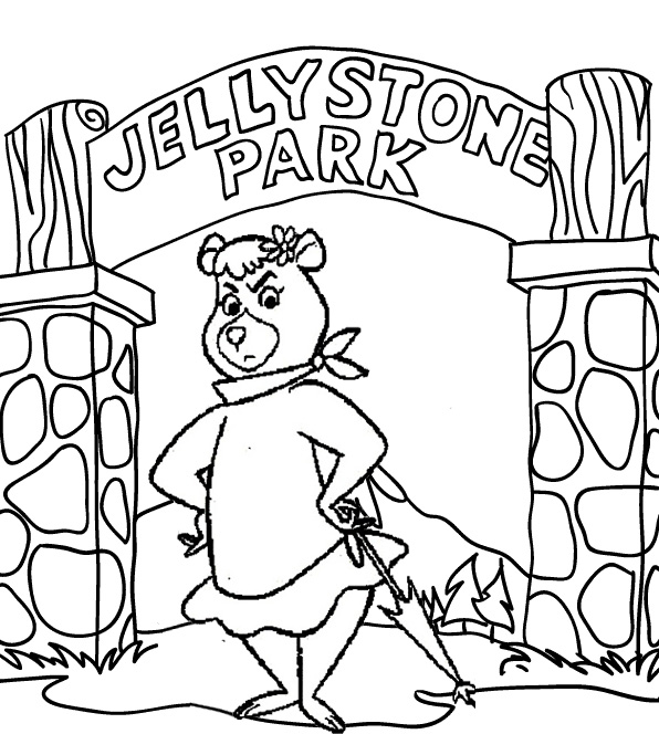 Cindy Coloring Page of Yogi Bear