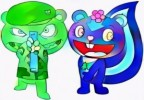 Five Fun Happy Tree Friends Coloring Page for Children