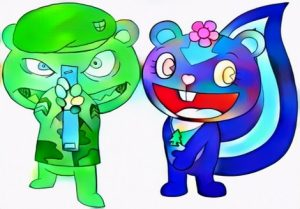 Happy Tree Friends Coloring Work Manually