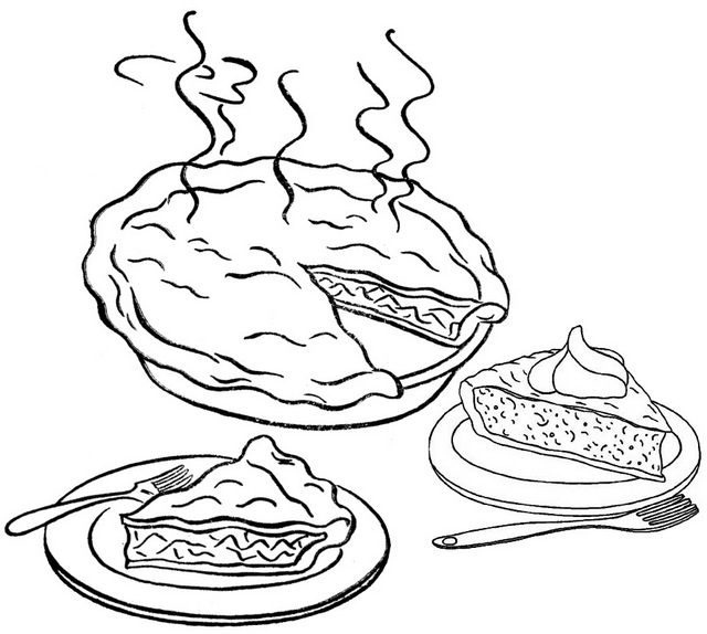 Thanksgiving Pie Coloring Page