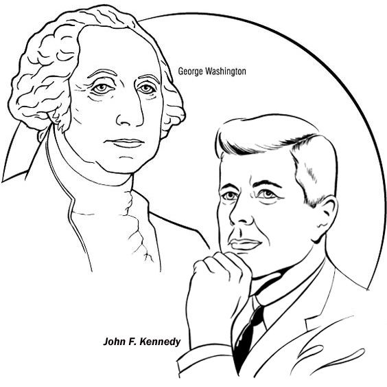 US President Coloring Page