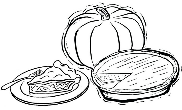 a slice of pie coloring page of pumpkin pie