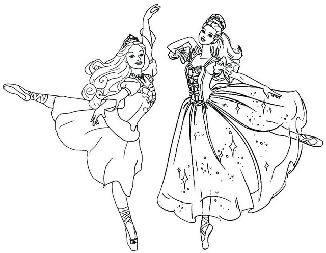 beautiful dance coloring page