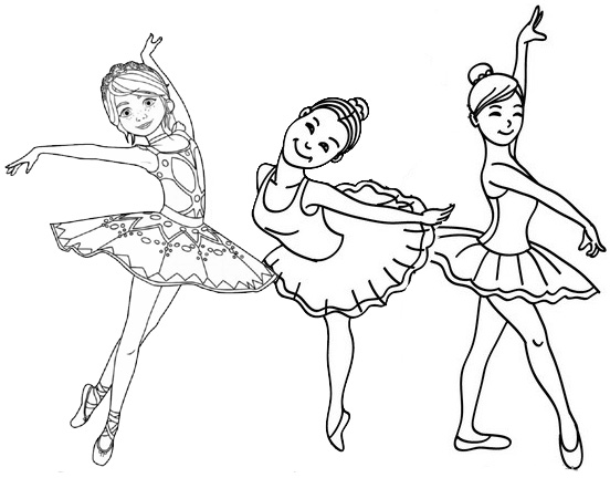 kid ballet dance coloring page